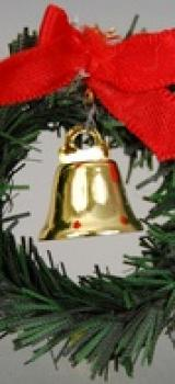 Couronne de Noël avec cloche