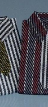 2 chemises et cravates assorties