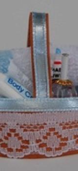 Nécessaire bébé bleu pour le bain